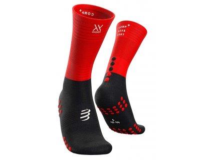 Mid Compression Socks Black/Red T1