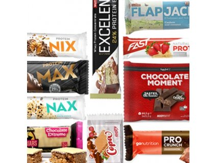 Testovací mix box proteinových tyčinek 10 kusů