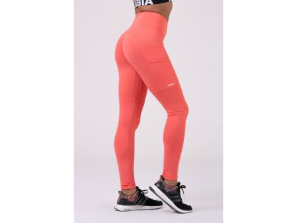 Nebbia High waist Fit & Smart leginy 505 peach L