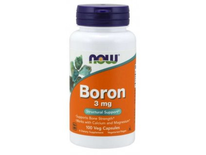 NOW Boron (bor) 3 mg 100 kapslí