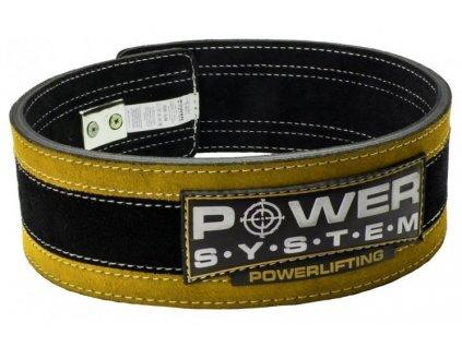 Power System Fitness opasek Stronglift žlutý