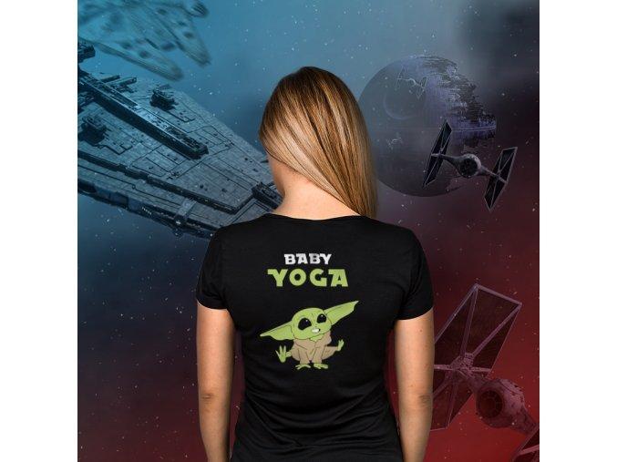 Dámské Tričko Gymtime - BABY YOGA