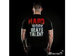 Pánské Tričko Gymtime - HARD WORK BEATS TALENT