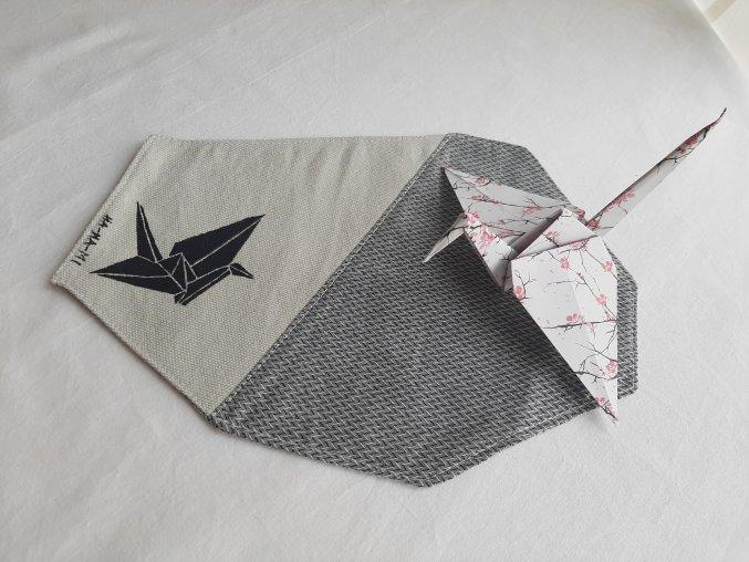 """Prostírání """"Origami jeřáb"""""""