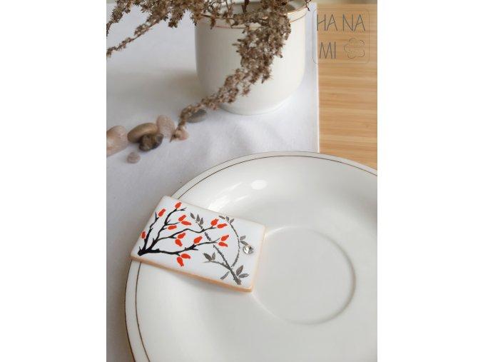 """magnetka """"Šípkový čaj"""" keramická"""