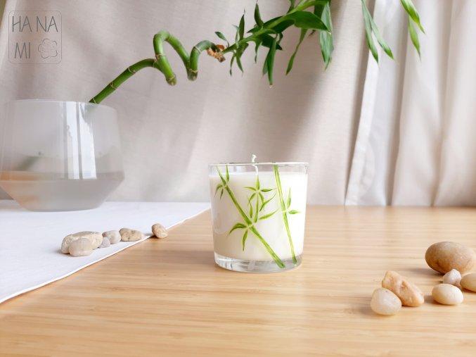 """svíčka ve sklence """"Bambusový háj"""""""