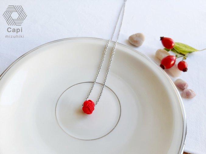 náhrdelník TAMA červený