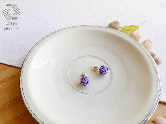 náušnice TAMA fialové