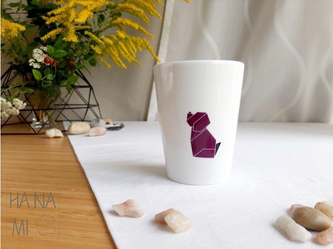 váza origami pes