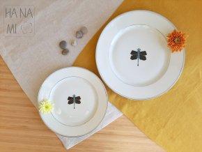 """sada dekoračních talířů """"Origami vážka"""""""