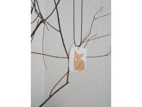 přívěsek na krk origami liška