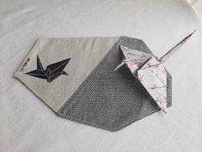 prostírání origami jeřáb