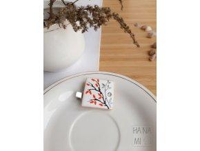 """Spona/brož """"Šípkový čaj"""" keramická"""