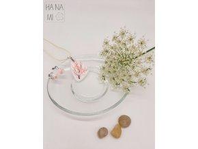 sada skleněných šperků květy
