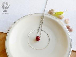 náhrdelník TAMA vínový