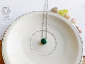 náhrdelník TAMA tmavě zelený