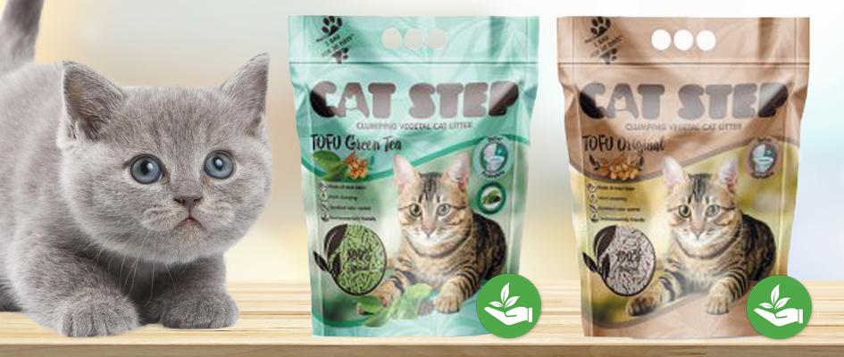 Vyzkoušejte kočičí ekologické stelivo od značky CAT STEP TOFU.