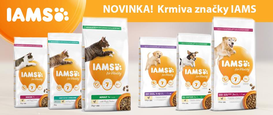 Vyzkoušejte nově naskladněné krmivo od značky IAMS.