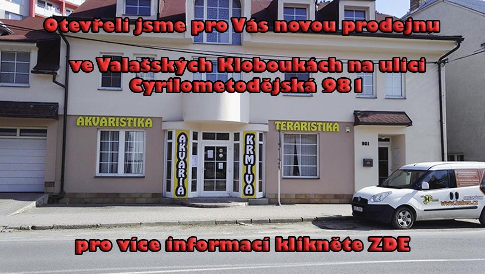 Otevřeli jsme pro Vás novou prodejnu na ulici Cyrilometodějská 981 ve Valašských Kloboukách