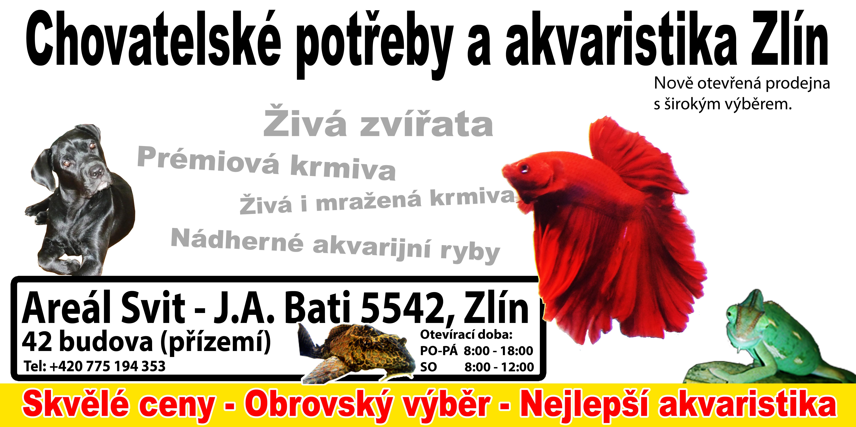 Nejlepší chovatelské potřeby a akvaristika ve Zlíně!