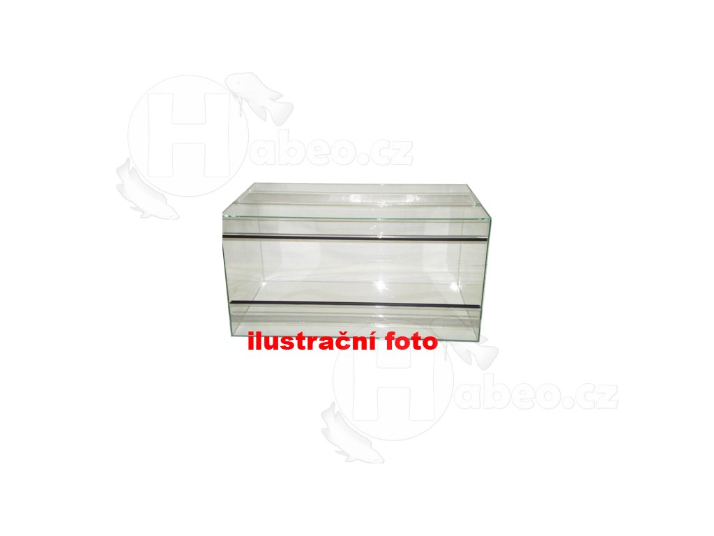 Terárium lepené 50x30x30cm obsah:45litrů sklo:4mm