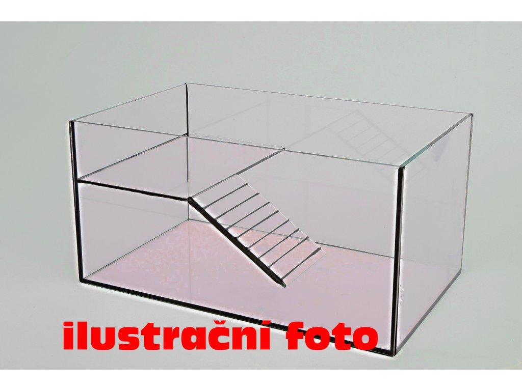 Želvárium lepené 50x25x25cm obsah:31litrů sklo:4mm s kr. skly