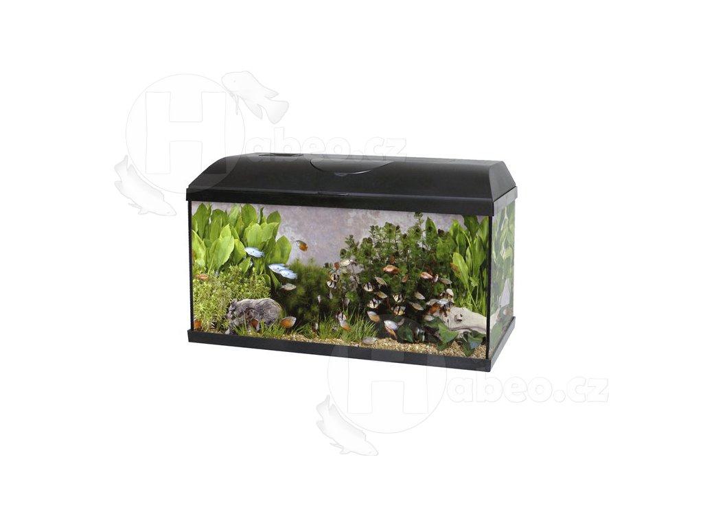 Akvárium set PACIFIC 100 x 30 x 40 cm, 120 litrů - LED OSVĚTLENÍ akvarium s příslušenstvím akvárko