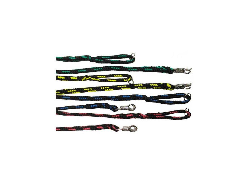 Vodítko nylon přepínací 2x karab.2m / 9 mm (Barva Zelená)