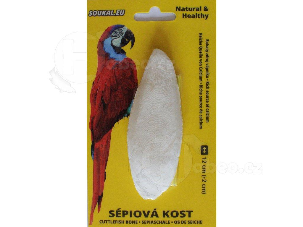 Sépiová kost na kartě 12 cm habeo.cz pro ptáky a pro papoušky