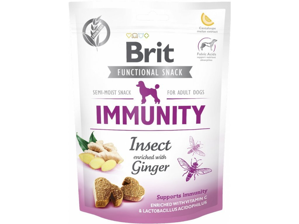 33899 brit care dog functional snack immunity insect 150g