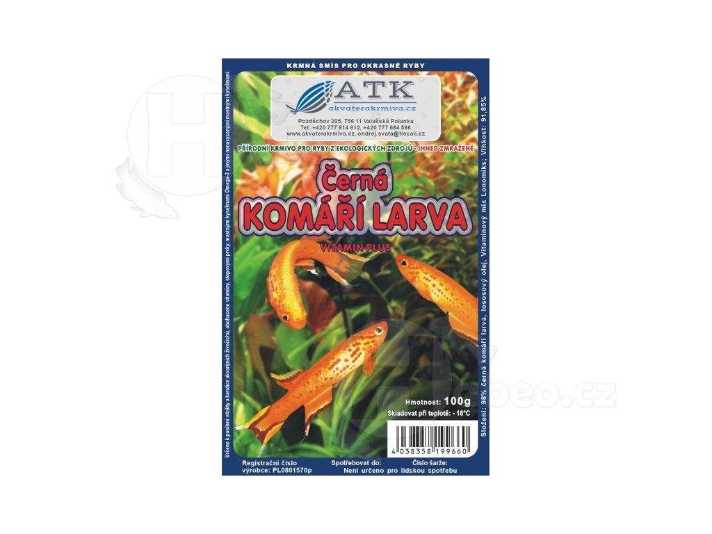 Komáří larvy černé blistr 100 g mražené krmivo mražená krmiva pro ryby komari larvy cerne blistr cokolada 100g