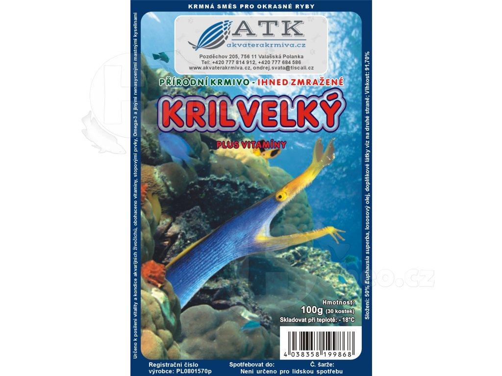 Mražený krill velký 100 g Krill Grob