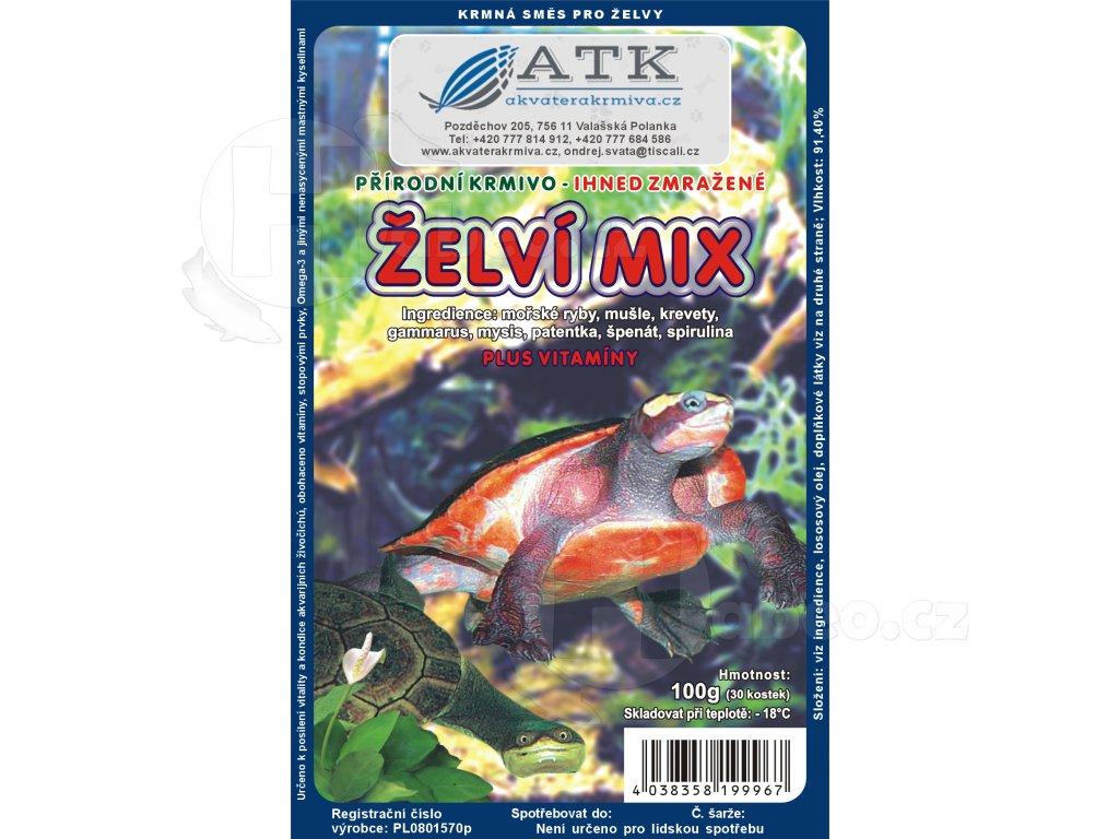 Želví mix 100 g - mražené krmivo pro želvy Schildkrötenfutter