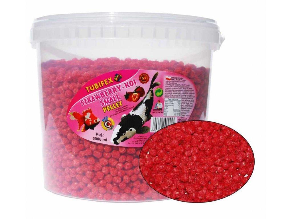 Strawberry koi pellet 5 l kyblík  Strawsberry Koi pellet wiadro