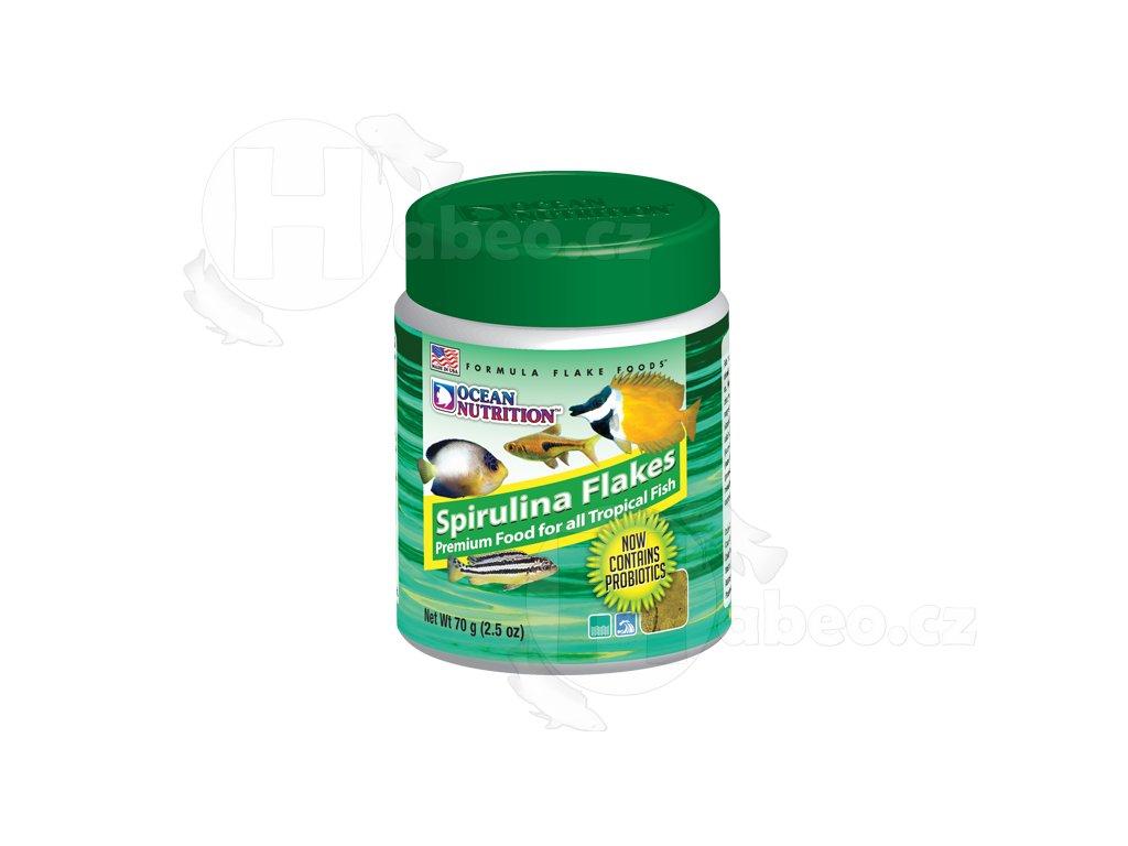 Spirulina Flakes 34 g - krmivo pro mořské a sladkovodní ryby krmivo pro rybičky akvarijní ryby