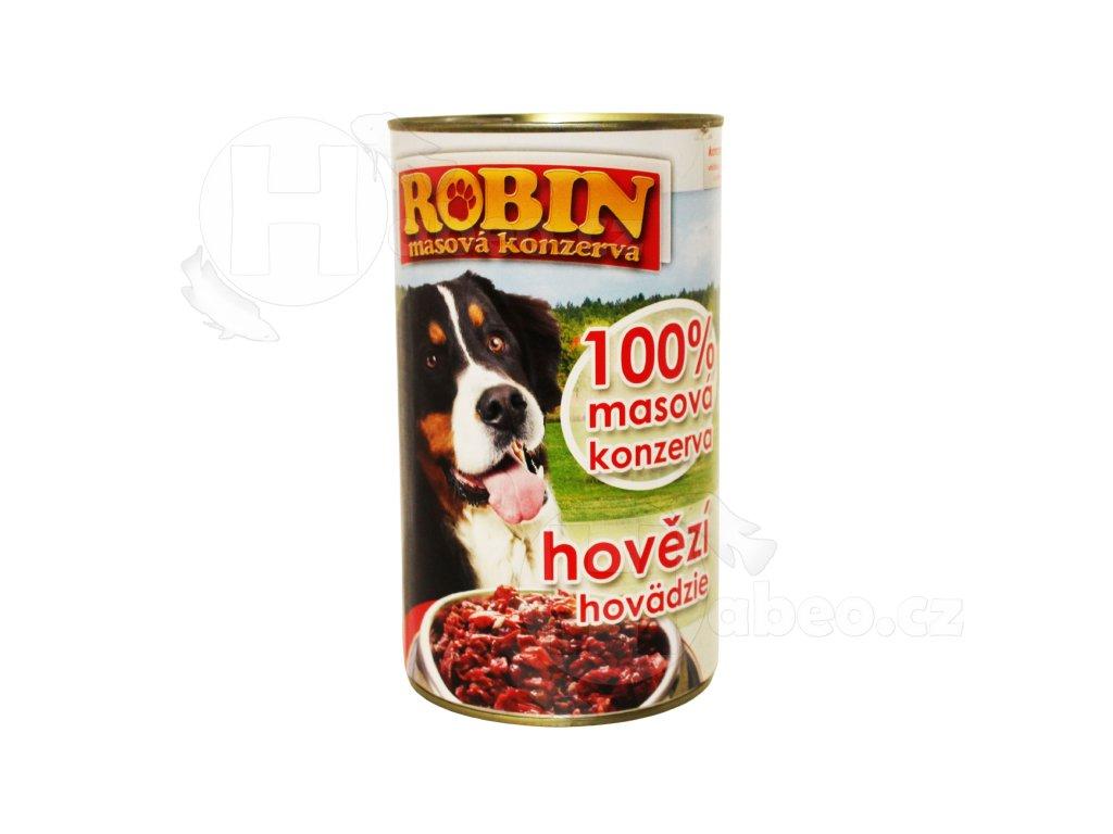 ROBIN Hovězí 1200 g 1 ks velká konezrva pro psa plná masa hovězí z hovězího pro psy pro psa habeo.cz levně