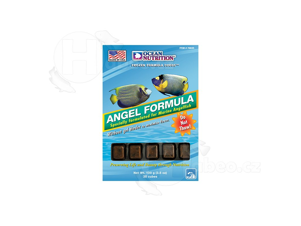 Angel Formula - mražené krmivo pro mořské ryby mořské akvárium rybičky krmivo mražené krmení v