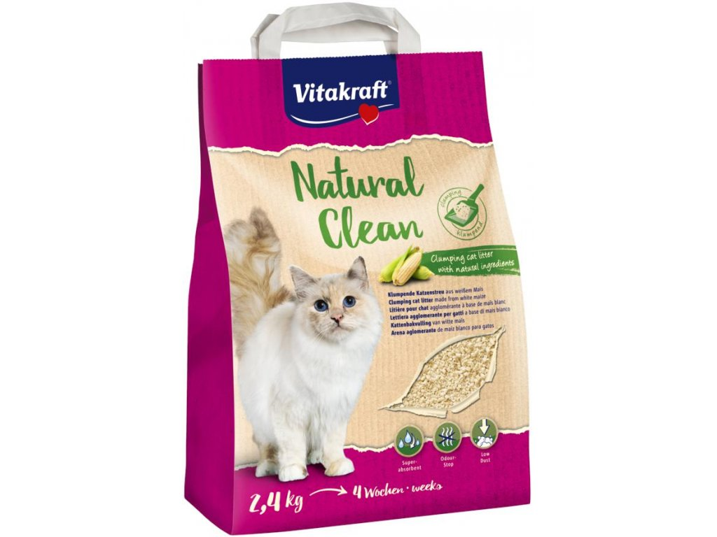Vitakraft Natural Clean kukuřičná podest. 2,4 kg