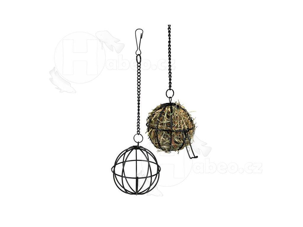 Kovový závěsný míč na potravu 8cm