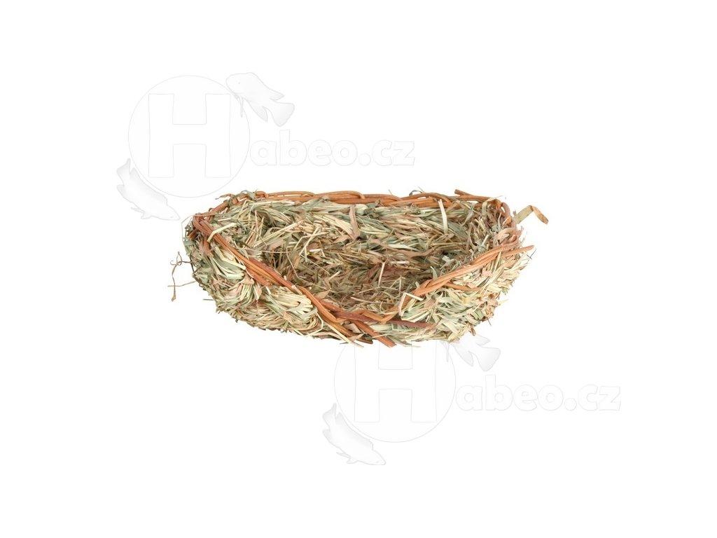 Hnízdo z trávy pro králíky pelíšek