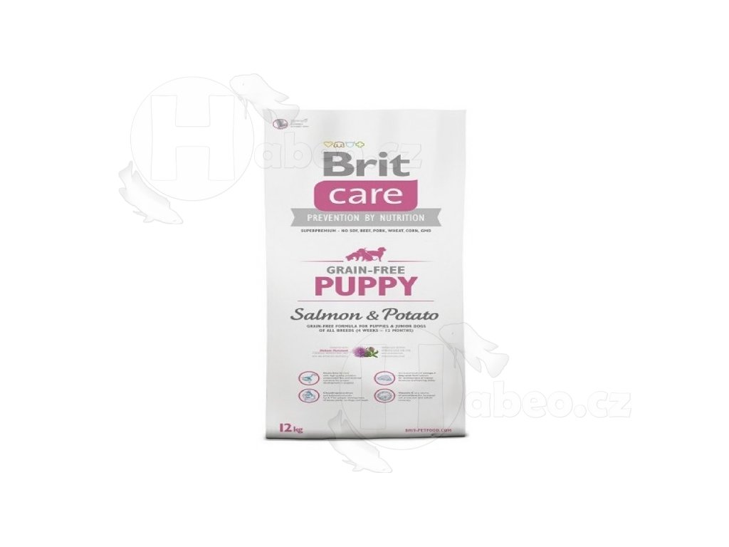 BRIT CARE 1 kg GRAIN-FREE PUPPY SALMON+POTATO granule pro psy