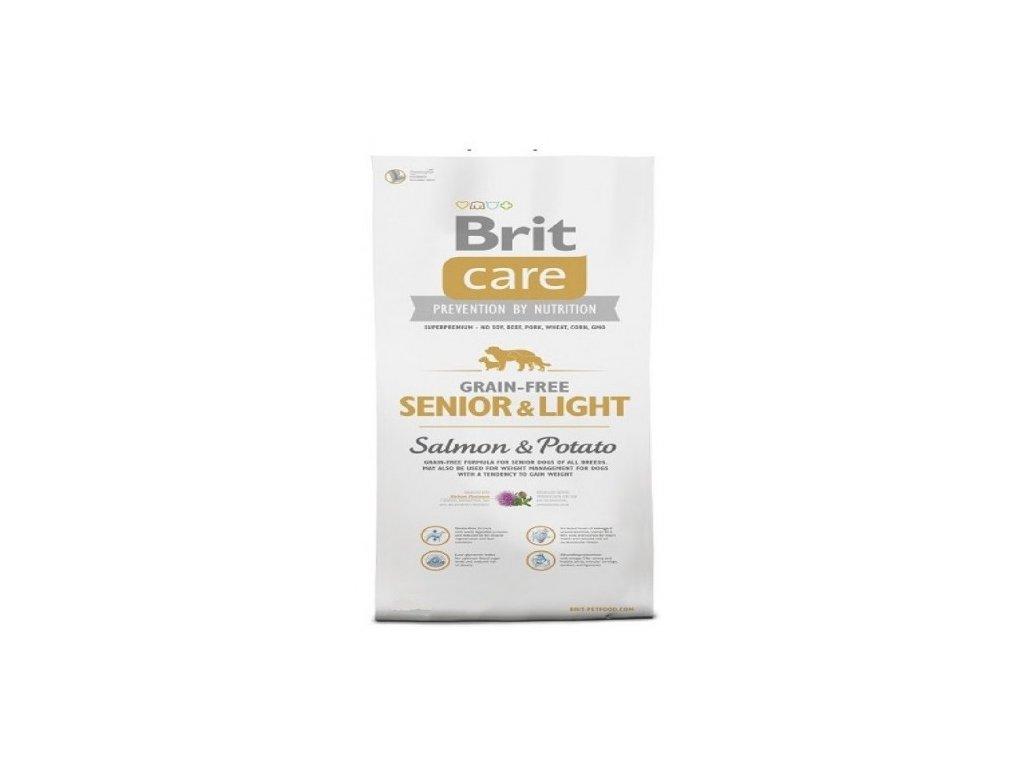 BRIT CARE 1 kg GRAIN-FREE SENIOR LIGHT SALMON & POTATO granule pro psy