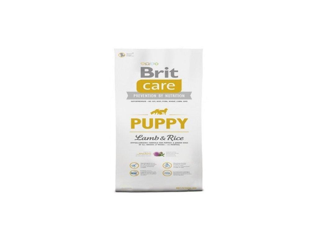 BRIT CARE 3 kg PUPPY L+R granule pro psy