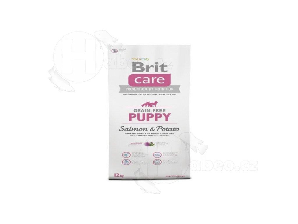 BRIT CARE 3 kg PUPPY SALMON+POTATO GRAIN-FREE granule pro psy