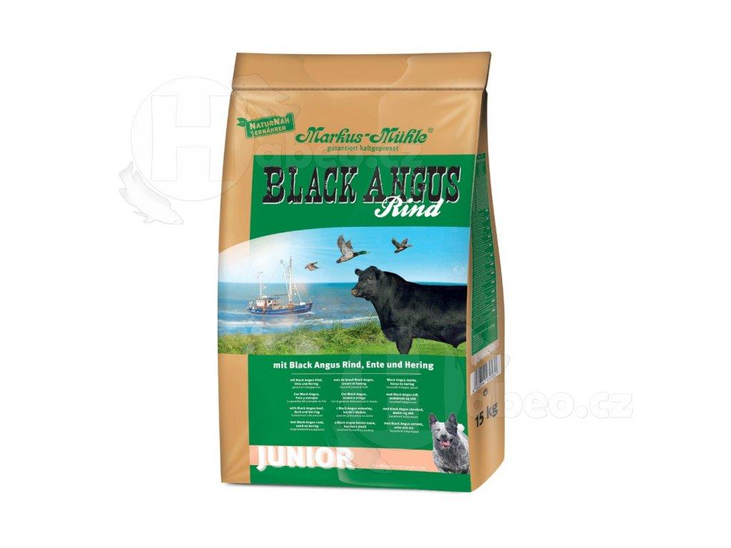 Markus Mühle BLACK ANGUS JUNIOR 15kg granule lisovane za studena pro psy