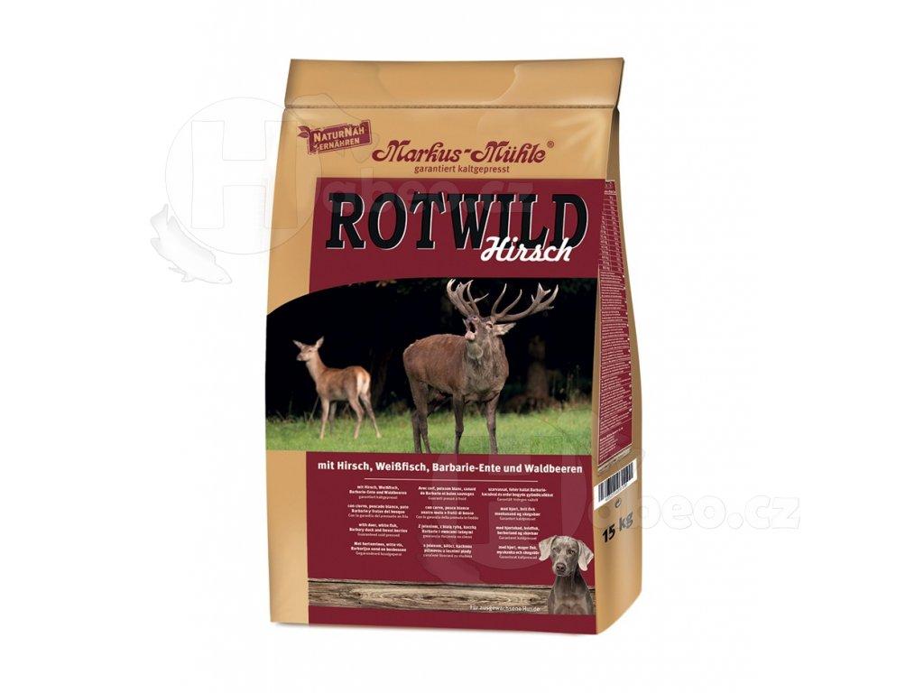 ROT WILD 5 kg granule lisované za studena s jelenem a rybou Markus Mühle RotWild 5kg granule lisovane za studena pro psy