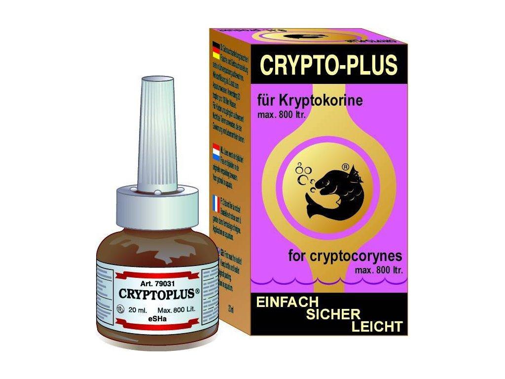 eSHa Přípravek CRYPTOPLUS 20 ml přípravek na léčbu nemocí rozstliv akváriu akvária rostliny nemoc uhnívání v akvárku