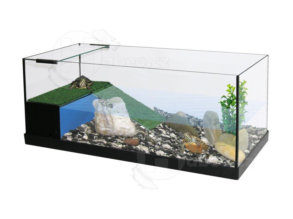 AQUATERRARIUM želvárium PACIFIC SET 80 x 35 x 30 cm akvárium terárium pro plazy pro želvy na prodej habeo.cz