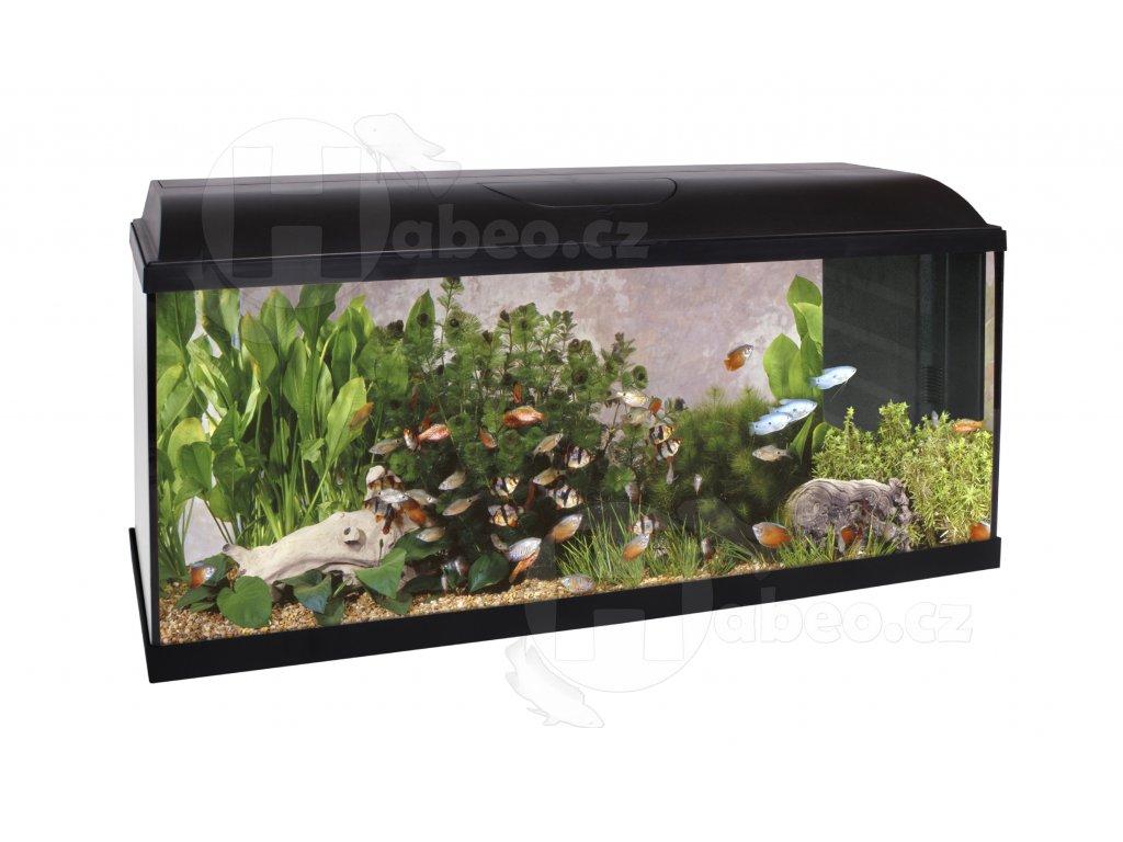 SET Akvárium s biofiltrem 100x30x40 120 Litrů - LED OSVĚTLENÍ akvárko vybavené akvárium akvarium s biofiltrem