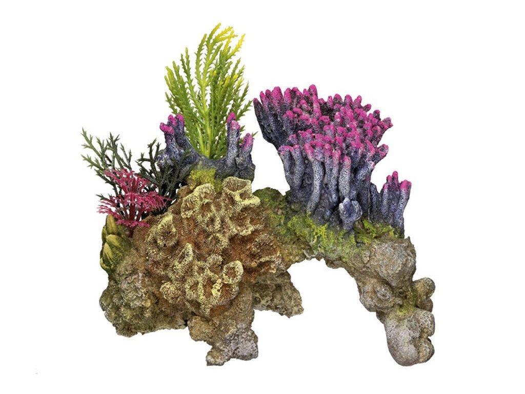 Akvarijní dekorace korálový kámen 15,5 x 9 x 10,5 cm